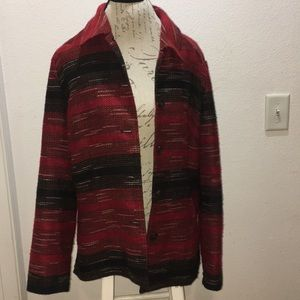 Coldwater Creek Red & Black Jacket Sz L